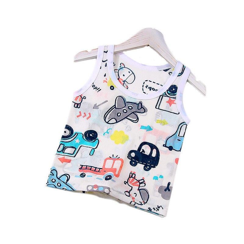 2021 Brand New Boys Top Tees Summer Cartoon Ice Silk T Shirt Baby Vest Toddler tanks Children Clothing