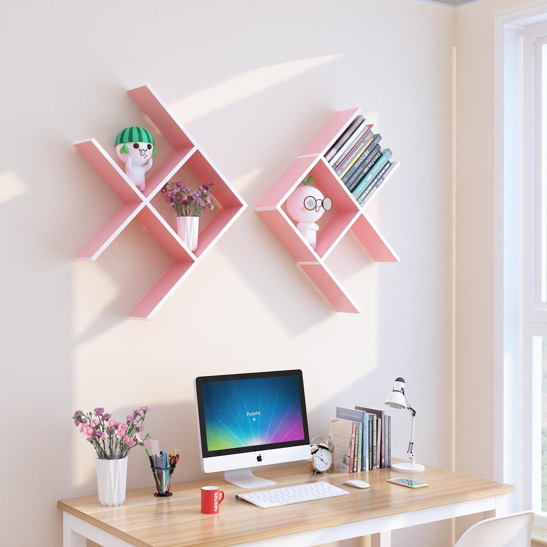 6PCS Hout DIY muur planken creatieve huishoudelijke planken voor wall opslag woondecoratie accessoires houten muur organizer - 4