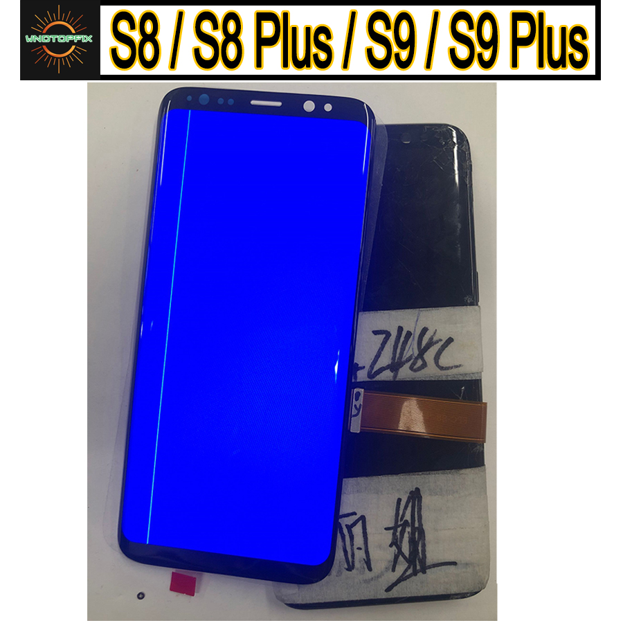 For Samsung S8 LCD Display Touch S8 Plus LCD Display For Samsung  S9 Plus LCD band line display mobile phone defective screenMobile Phone  LCD Screens