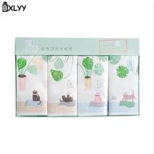 BXLYY 2 шт. мультфильм растение кошка одноразовые бумажные полотенца трехслойный платок с принтом бумажные вечерние украшения подарок Рождество. 85z