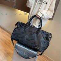 Korean version of the large capacity men and women luggage bag luxury shoulder bag shoulder bag short travel bag luggage travel