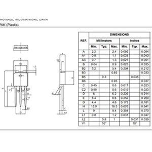 Image 5 - 10 sztuk/partia T405 600B 600V 4A TO 252 T405 600 405 600B T40560 T405 600T TO 220 T405 600H do 251 Thyristor TRIAC 600V 31A
