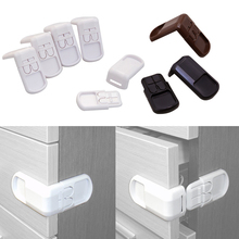 5Pcs/Lot Plastic Baby Safety Protection From Children In Cabinets Boxes Lock Drawer Door Security Product