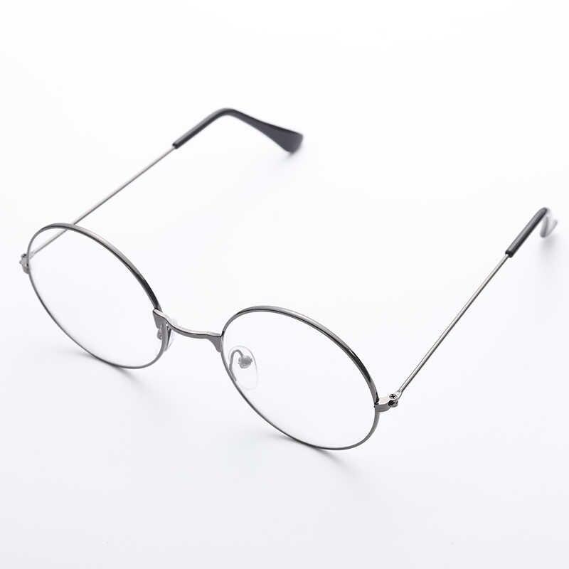 2019 Новые Классические винтажные очки с круглой оправой Плоские линзы близорукость оптическое зеркало простые металлические женские/оправа для мужских очков