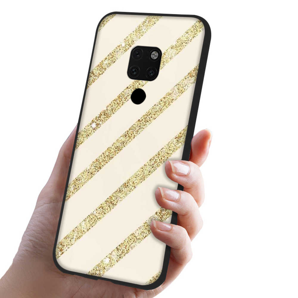 Lavaza Gold Pink rose Glitter marble TPU Soft Case for Huawei Honor view 20 9x Pro P smart Z Plus P20Lite Mate 30 Lite