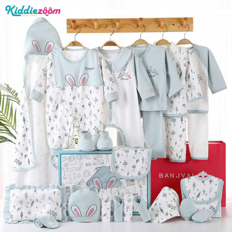 24PCS Unisex Baby Girl Clothes Newborn Gift Set Baby Boy Clothes Cotton Summer Baby Supplies Fall Winter Spring Clothing Sets