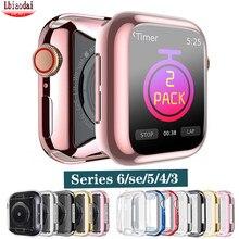 Pokrowiec na Apple Watch case 44mm 40mm iWatch 3 42mm/38mm TPU osłona na zderzak do Apple watch series 6/5/4/SE akcesoria