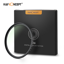 K&F Concept 52mm 58mm 67mm 77mm UV Filter, MCUV 18-Layer Multi Coated Ultra Violet Filter With Multi-Resistant Nano Coating nisi 82mm mc ultra violet ultra thin double sided multilayer coating uv lens filter