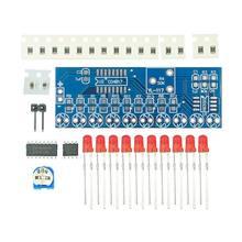 Наборы умной электроники NE555 + CD4017 светильник проточный светильник светодиодный модуль DIY Kit