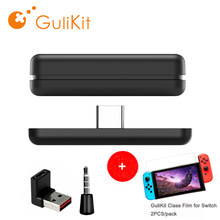 Gulikit NS07 Route Air Draadloze Bluetooth Audio Receiver Zender Adapter USB-C Met Microfoon Voor Nintendo Switch /PS4/ PS5