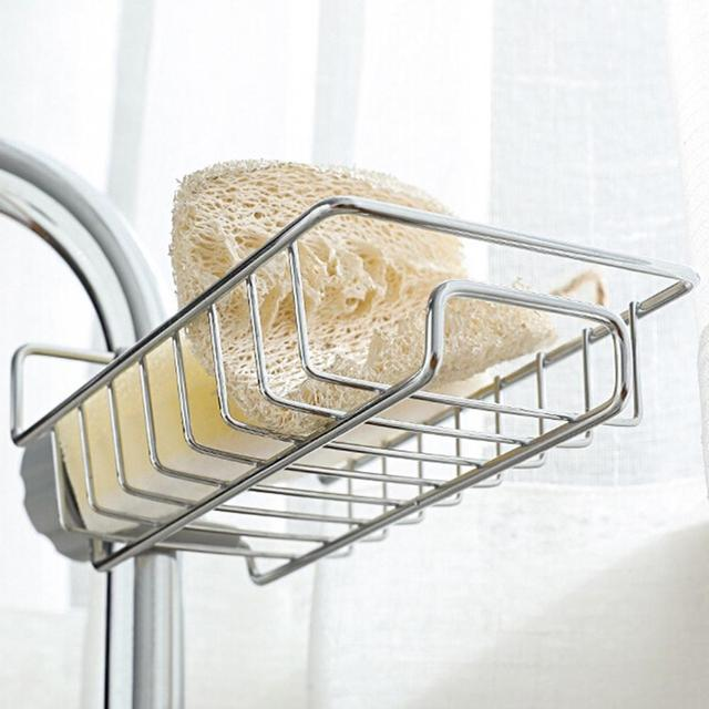 Adjustable Brush Holder Shelf Sponge Faucet Storage Drying Drainer Space-saving Kitchen Rack Lid Rack Rust-proof Organizer