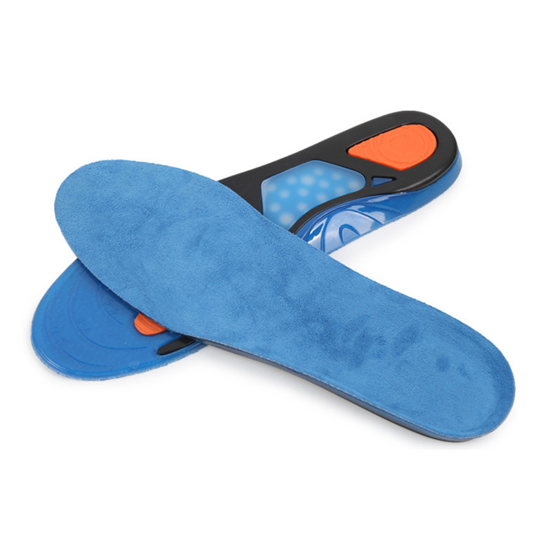 Pu Sports Insoles For Sneakers Pads For Shoes Gel Cushion Foot Arch Support Heel Spur Men Women Shoe Pad Inserts Soles Padding in Insoles from Shoes