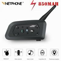 Pro Motorcycle Intercom 1200m Wireless Helmet Bluetooth Headset Intercoms for 6 Riders Intercomunicador BT Interphone MP3 GPS