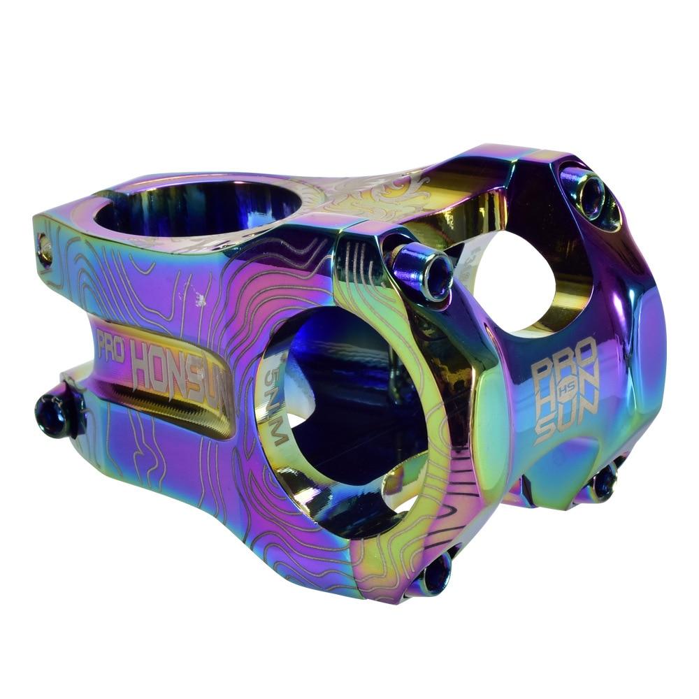 Bicycle Rainbow Stem 0 degree 31.8*45mm CNC Bike Short Stem XC AM DH FR MTB Mountain Road Bike Handlebar Stem Colorful Stem