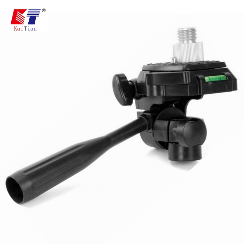 Kaitian Quick Bracket For Tripod Laser Level 360 Degree Rotary 5/8 1/4 Inch Angle Adjustment Dismountabl Connector Leveling Tool