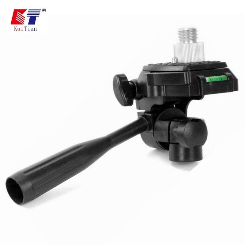 Kaitian Schnell Halterung für Stativ Laser Ebene 360 Grad Rotary 5/8 1/4 Zoll Winkel Einstellung Dismountabl Stecker Nivellierung Werkzeug