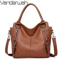 Vintage soft leather luxury handbags women bags Designer Large ladies hand tote bag shoulder crossbody bags for women 2019 sac