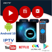 4K Arabic EVDTV IPTV Subscription T95 Tv Box Egypt Iran Israel Brazil Italy Sweden Romania Spain T95 Android 10 Set Top Box(China)