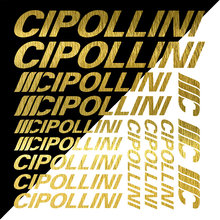Cipollini-Kit de pegatinas decorativas para ciclismo, pegatinas de vinilo reflectantes para cuadro de bicicleta, Compatible con Cipollini, 15 piezas