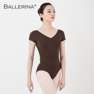 Image 5 - バレエレオタード女性ダンスウェア専門的な訓練yogaセクシーな体操クロスオープンバックレオタードバレリーナ 3551