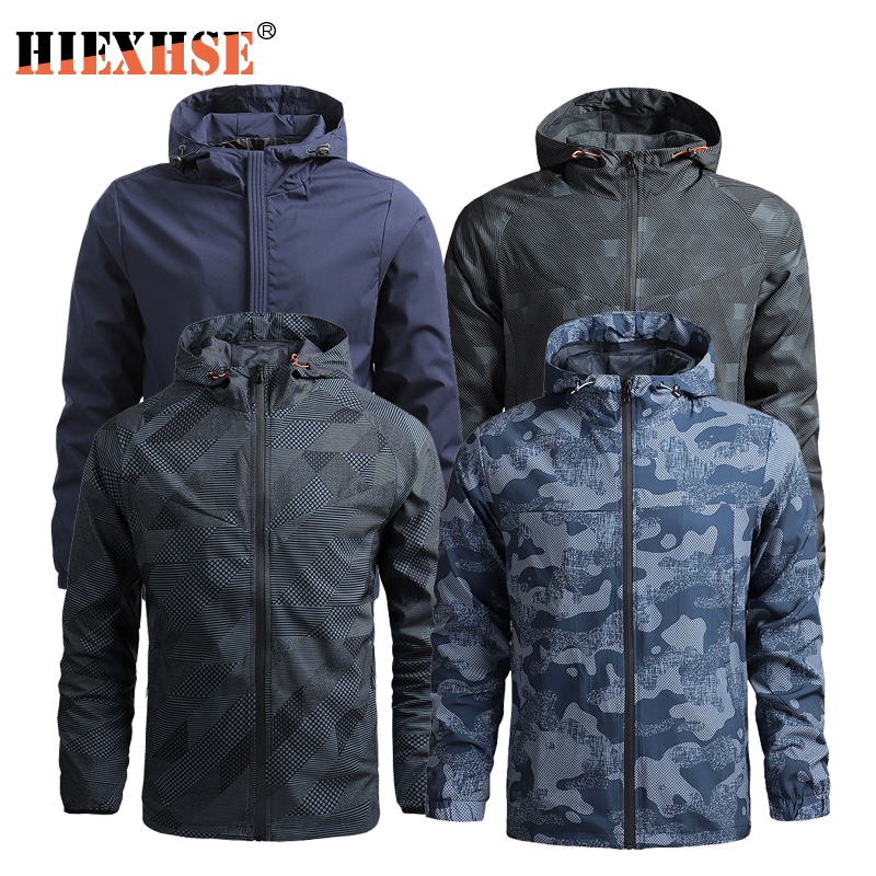 Hiking Jacket Men Shark Soft Shell Military Tactical Jackets Waterproof Windbreaker Hooded Bomber Coats Camouflage Jacket Male