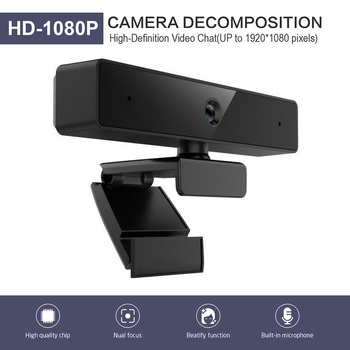 Full HD 1080P Webcam Built-in Microphone Video Conference USB Web Camera Auto Focus High-end Video Call Web Camera for PC Laptop