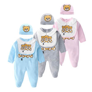 Briefs Jumpsuit Rompers Hairband Spring Long-Sleeve Newborn-Baby Girls Autumn Infant