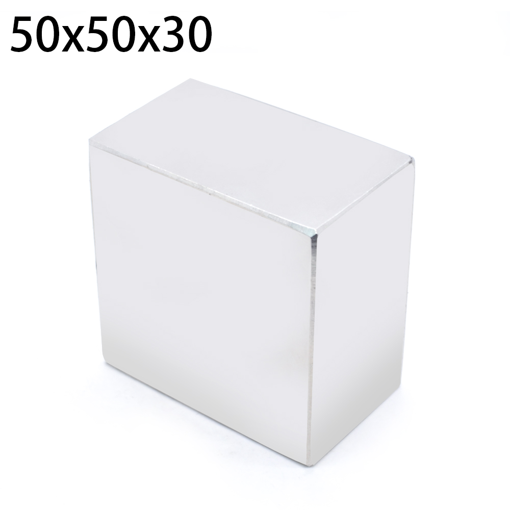 Image 4 - N52 1pcs Block Magnet 50 x 50 x 30 mm Super Strong Rare Earth magnets Neodymium Magnet 50*50*30                              mm-in Magnetic Materials from Home Improvement