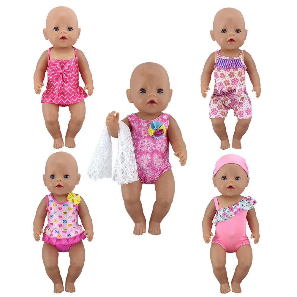 2019 New Lovely Fashion Bikini Clothes Fit For 43 Cm Baby Doll 17inch Reborn Doll Accessories