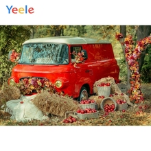 Autumn Farm Backdrop Countryside Harvest Red Car Hay Baby Shower Children Birthday Background Photo studio Photocall Photophone allenjoy photography backdrop car grass red countryside baby shower children background photo studio photocall