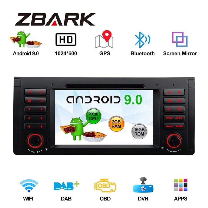 "1 Din 7 ""Android 9,0 автомобильный DVD плеер Радио RDS CAN шина OBD WI-FI gps Navi для BMW X5 E53 1999 2000 2001 2002 2003-2006 YH53PX3001"