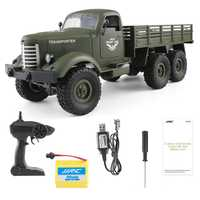 1:16 2.4G 6WD Remote Control Military Trucks 6 Wheel Drive Off-Road RC Vehicle Model Army Climbing Car Auto Army Truck Boy Toys