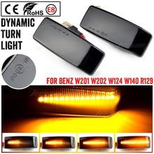 Dynamique FEUX DE POSITION LATÉRAUX LED Voiture Répétiteur de Clignotant Lampe Pour Mercedes-benz W201 190 W202 W124 W140 R129 SL-CLASS