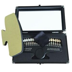 Image 1 - 3d тени для отбеливания зубов, компаратор с зеркалом, стоматология, холодный свет, отбеливающая стоматологическая пластина, 20 видов цветов