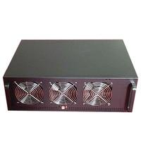 PC Server Case USB Miner Rack ETH/ETC/ZEC/Monero XMR Mining Rig GPU Frame D1800 BTC B250 BTC D8P D3 4U Chassis 6 Graphics Card C