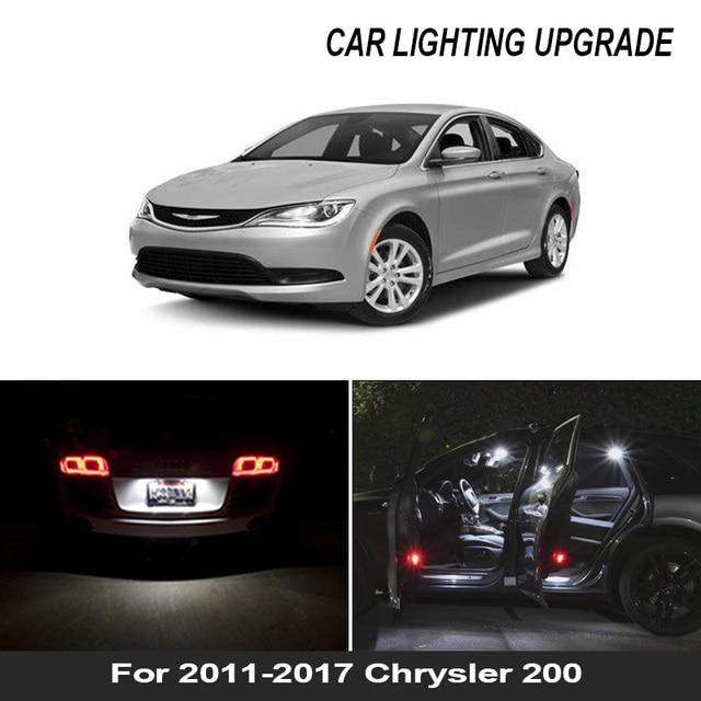 For 2011-2017 Chrysler 200 White car accessories Canbus LED Interior Light Reading Light Kit Map Dome License Lamp 1