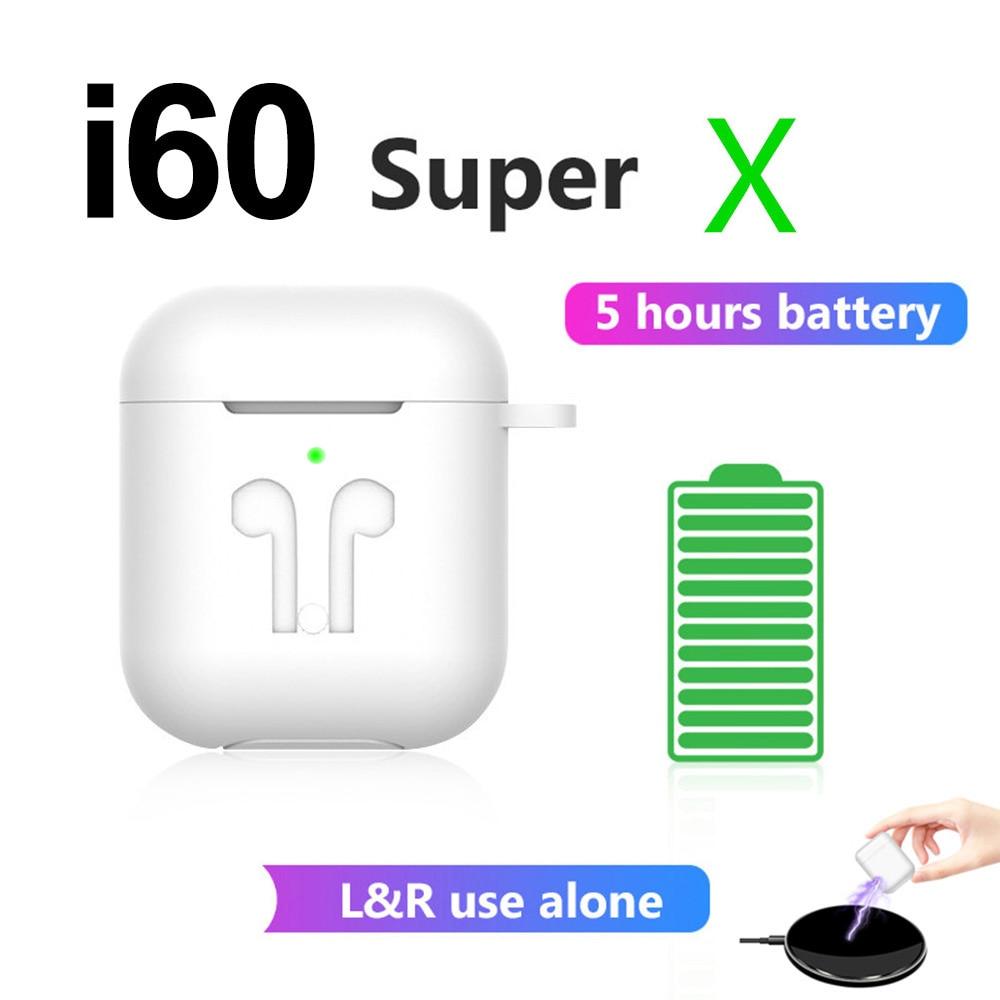 I60 Super X TWS Wireless Bluetooth Earphones 6D Bass Sport Earbuds Headset Pk I10 I30 I50 I80 I90 I100 Tws For IPhone Xiaomi