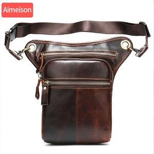 Image 5 - Aimeison ของแท้หนังเอวชายเอวแพ็คเอวกระเป๋าตลกแพ็คกระเป๋าเข็มขัดชายเอวกระเป๋าสำหรับโทรศัพท์กระเป๋า