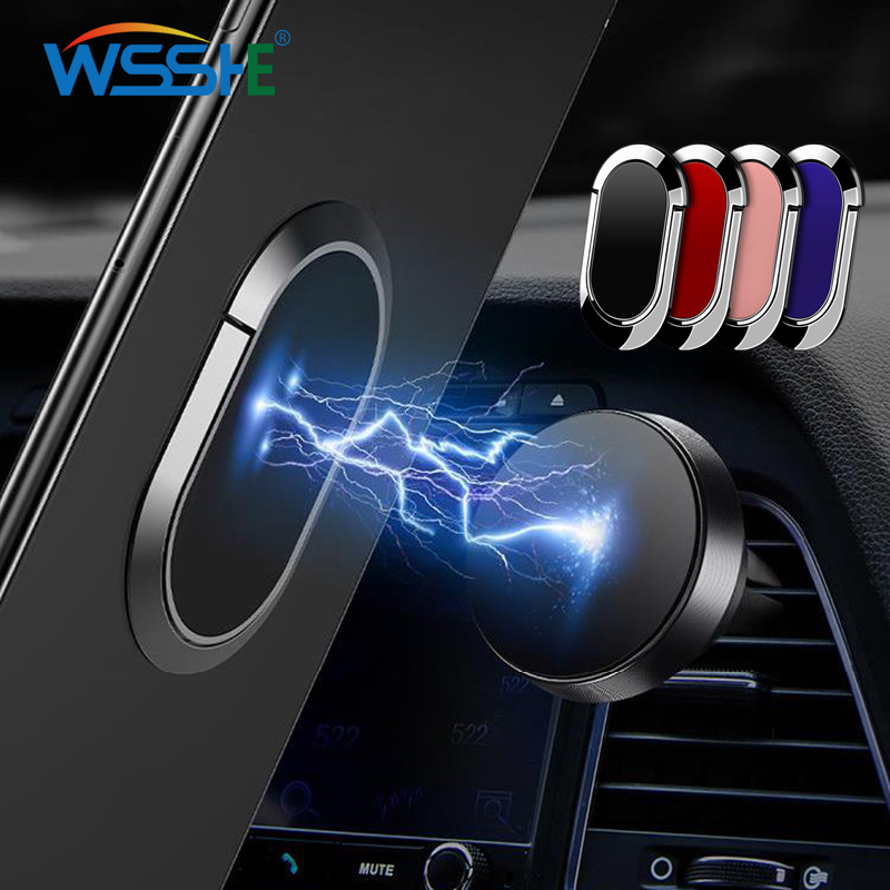 Universal Car Phone Holder Magnetic Rotatable 5 Colors Finger Ring Holder Multifunctional Desk Stand For Mobile Phone Tablet PC
