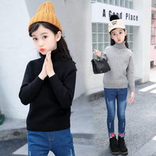 2019 Autumn Baby Boys Girls Turtleneck Sweaters Sweater Kids For Winter Knitted  Vetement Enfant 3188