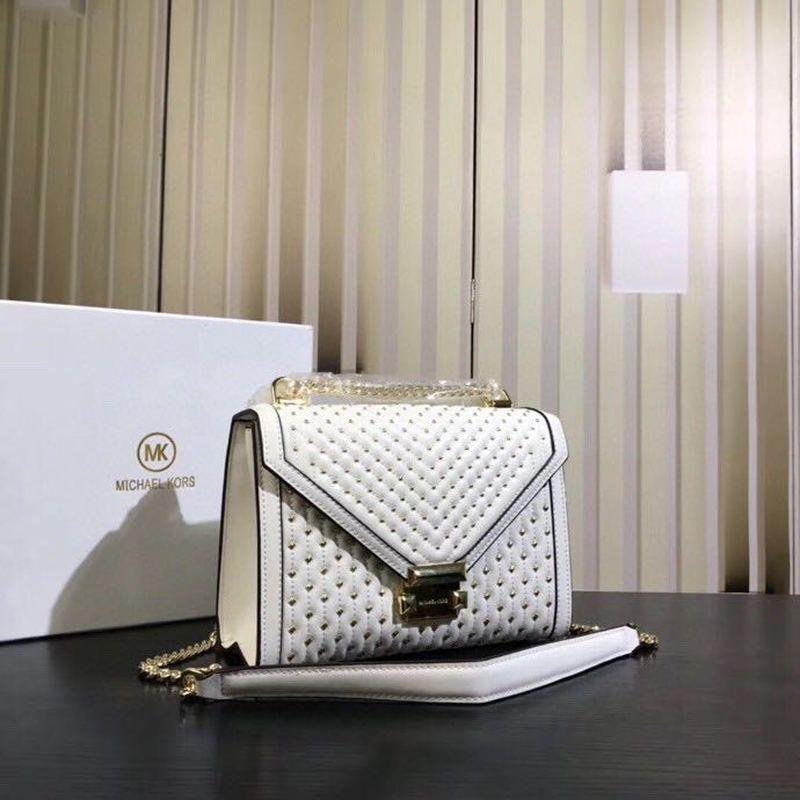2020 New Ladies Handbag Fashion Genuine Leather Brand Ladies Bag Rivet Crossbody Shoulder Bag Women Bag Chain Small Square Bag