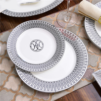 European Modern Ceramics Western Food Plates Bone Porcelain Steak Ornaments Tableware Decorations bone china dish big plate