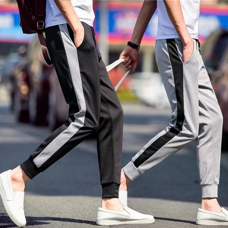 2019 Autumn Men's Japanese-style Casual Pants Skinny Pants Students Capri Casual Pants Men'S Wear With Drawstring Sports Ankle B