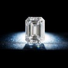 Gevşek taşlar mozanit taş 0.2ct To 10ct zümrüt kesim elmas D renk VVS1 geçiş Moissanite test cihazı Gra sertifika Gems