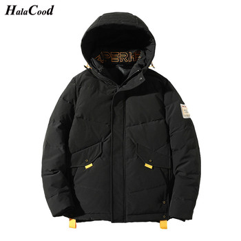 HALACOOD Brand Quality New Winter White Duck Down Jacket With Hood Men's Clothing Casual Jackets Thickening Parkas Male Big Coat