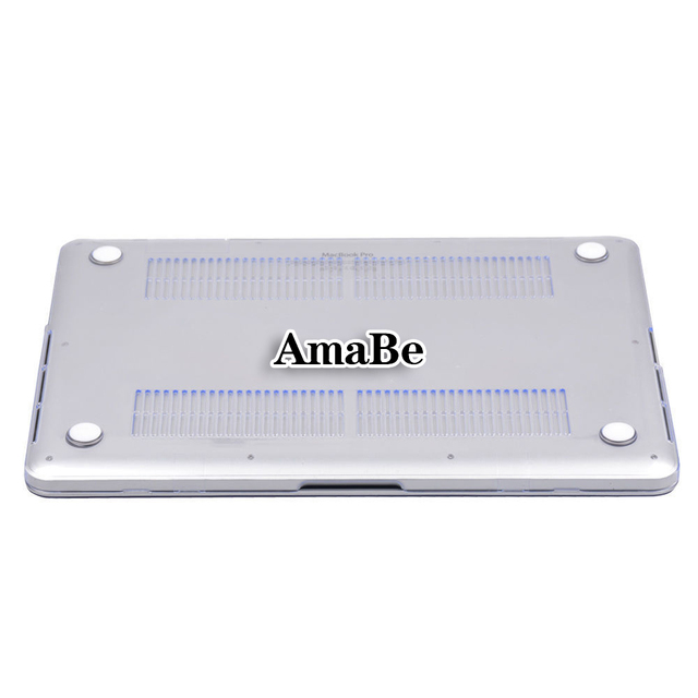 AmaBe For Apple MacBook Air Pro Retina 11 12 13 15 / New Air 13 / Pro 13 15  Crystal Hard Shell Laptop Cover Case