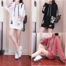 Will the spring and autumn period new hooded fleece super fire female students loose womens long joker coat in ins