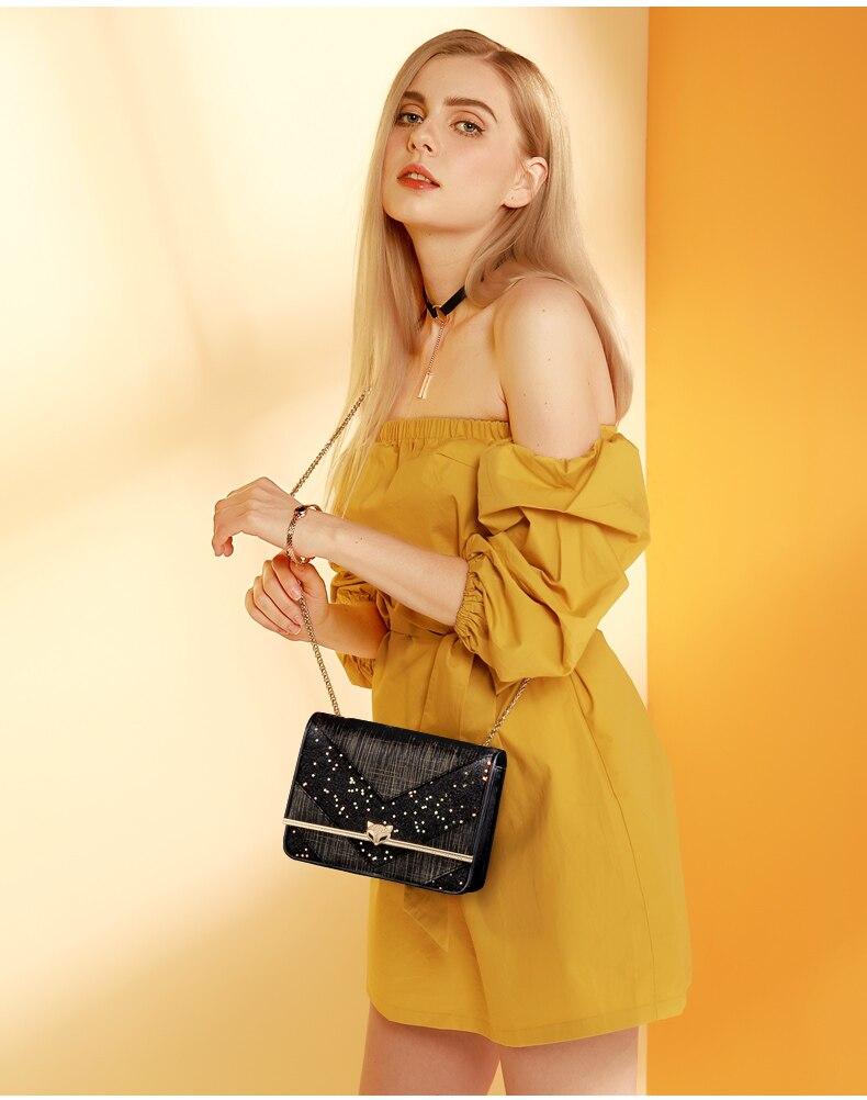 Foxer marca design clássico exclusivo original mulheres
