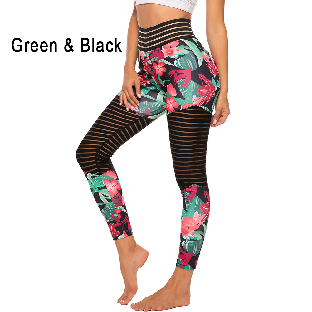 Women Floral Printed Push Up Leggings 15