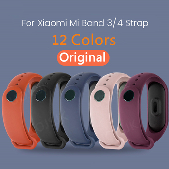 цена на Original Strap For Xiaomi Mi Band 4 3 Silicone Wristband Bracelet Replacement For Xiaomi Band 3 4 MiBand M4 M3 Wrist Color Strap